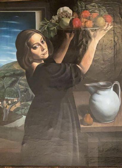 Ecole Italienne du XX° siècle  Femme à la...