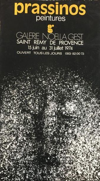 D'après Mario PRASSINOS (1916 - 1985)  Peintures...