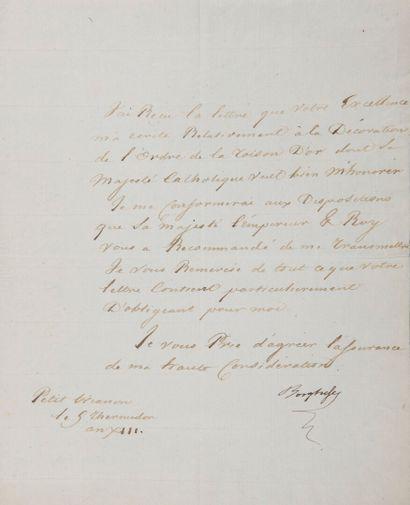 BORGHÈSE Camille, duc de Guastalla, prince...
