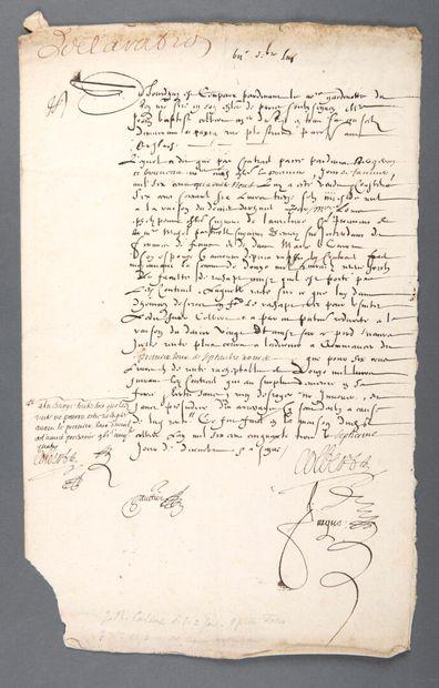 COLBERT Jean-Baptiste [Reims, 1619 - Paris, 1683], homme d'État français.  Pièce...