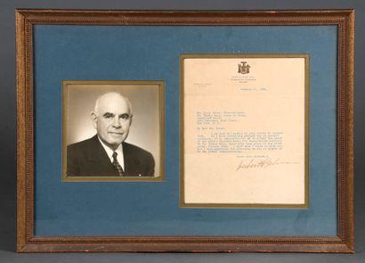 LEHMANN Herbert H. [1878 - 1963], gouverneur...