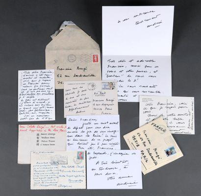 CHÉDID Andrée [Le Caire, 1920 - Paris, 2011], poète et romancière française d'origine...