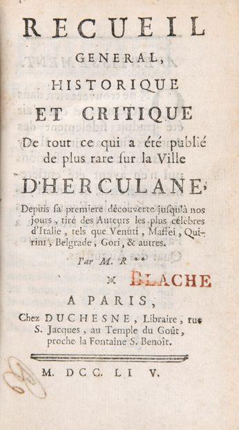 REQUIER, Jean-Baptiste - Recueil général,...