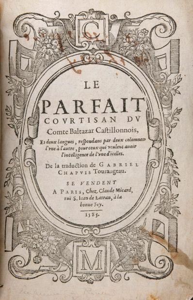 CASTIGLIONE, Baltasar - Le Parfait Courtisan...