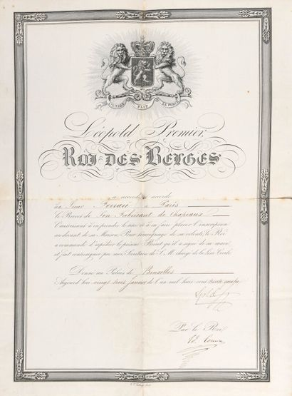 LÉOPOLD Ier DE SAXE-COBOURG [Cobourg, 1790...