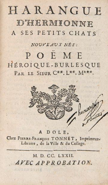 C. L. M. - Harangue d'Hermionne à ses petits...
