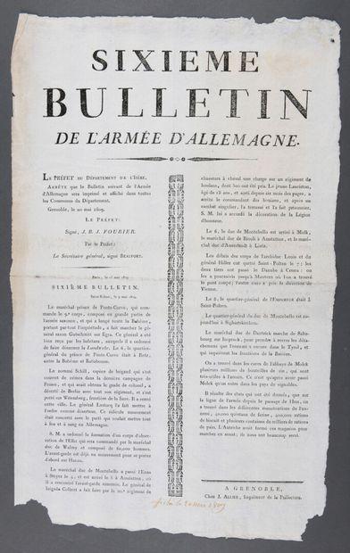BULLETIN DE L'ARMÉE D'ALLEMAGNE.  Affiche...