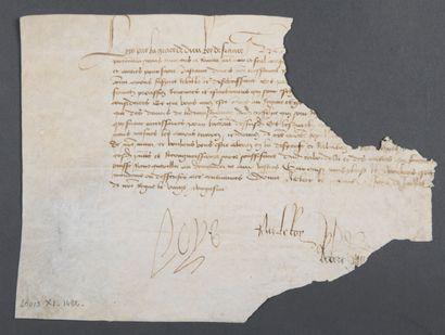 LOUIS XI [Bourges, 1423 - Château de Plessis-lez-Tours,...