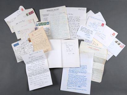 CORRESPONDANCE.  Correspondance adressée à Francine et à Colette Bergé. Environ...