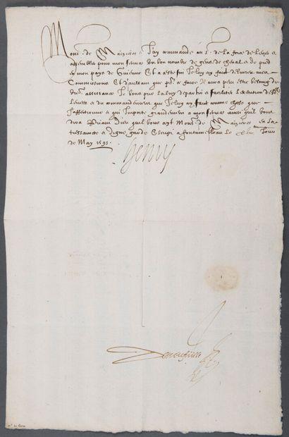 HENRI IV [Pau, 1553 - Paris, 1610], roi de...