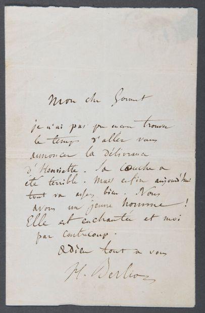 BERLIOZ Hector [La Côte-Saint-André, 1803 - Paris, 1869], compositeur français....
