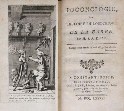 [DULAURE, Jacques-Antoine] - Pogonologie,...