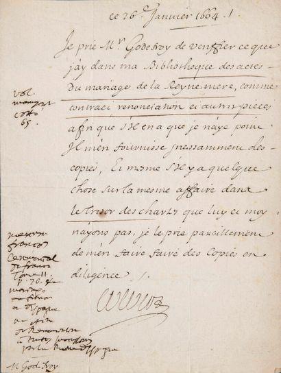 COLBERT Jean-Baptiste [Reims, 1619 - Paris,...