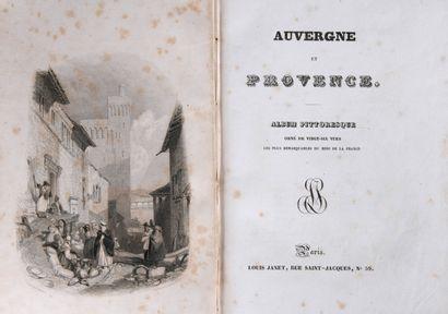 [AUVERGNE] - Auvergne et Provence. Album...