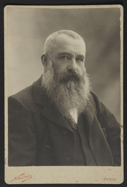 Paul NADAR (1856-1939)  Claude Monet dans...