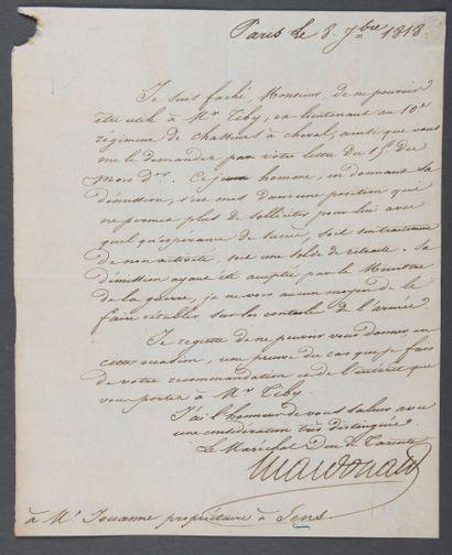MACDONALD Étienne Jacques Joseph Alexandre,...