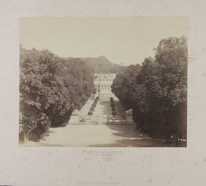 Charles SOULIER (1840-1875)  Chateau de Saint-Cloud,...