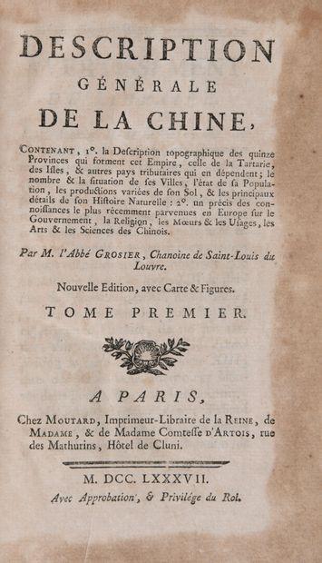 [CHINE] - GROSIER, Abbé - Description générale...