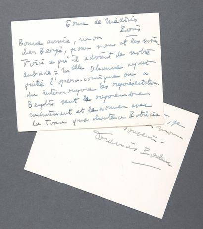 POULENC Francis [Paris, 1899 - id., 1963],...