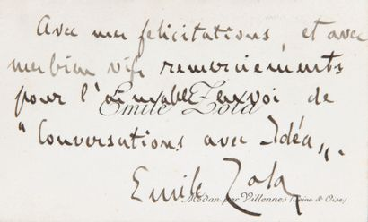 ZOLA Émile [Paris, 1840 - id., 1902], écrivain...