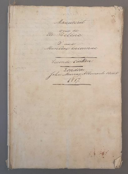 MANUSCRIT DE STE HÉLÈNE.  Manuscrit : « Mémoire...