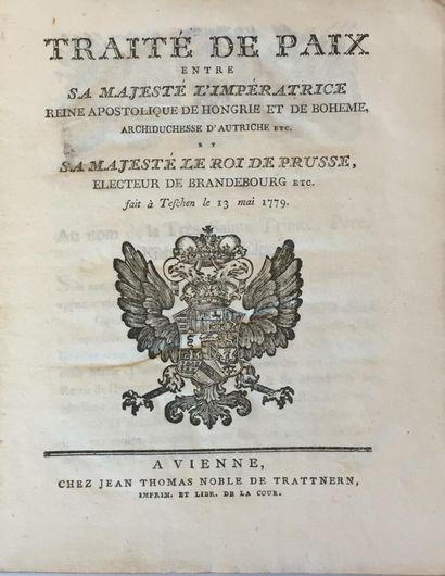 TRAITÉ DE PAIX.  Imprimé. « Traité de paix...