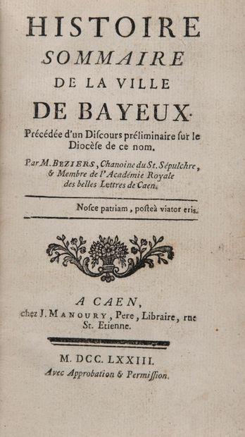 BEZIERS, Michel - Histoire sommaire de la...