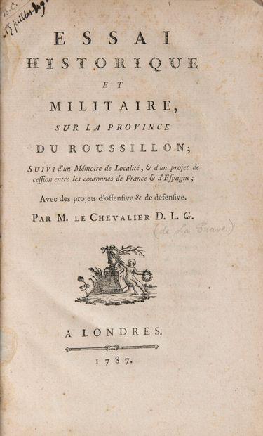 LA GRAVE, Chevalier de - Essai historique...