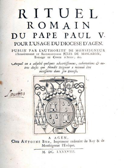 RITUEL ROMAIN - du Pape Paul V. pour l'usage...