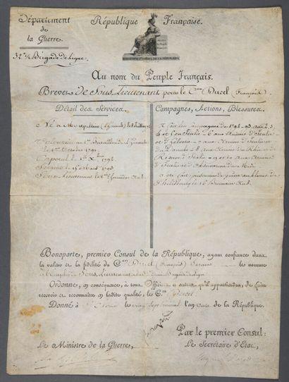 NAPOLÉON Ier (Napoléon Bonaparte) [Ajaccio,...
