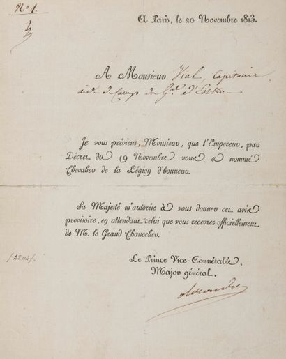 BERTHIER Louis Alexandre, prince de Neuchâtel...