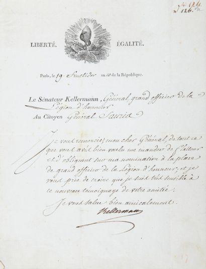KELLERMANN François Christophe, duc de Valmy...