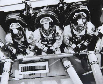 NASA  Apollo 8  L'équipage d'Apollo 8 à l'entraînement...