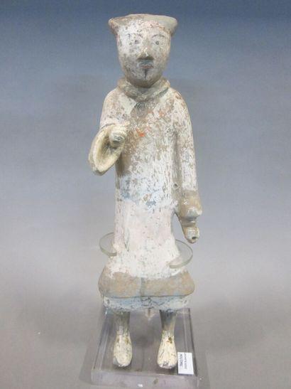 Guerrier en terre cuite  Chine, dynastie...