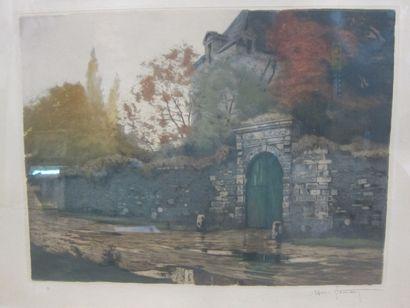 Henri JOURDAIN (1864-1931)  Mur et entrée...