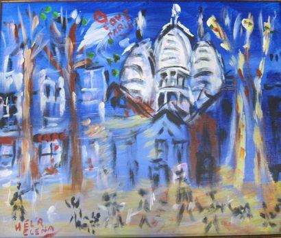 Elena HEL'R (1946)  Love Paris Montmartre...