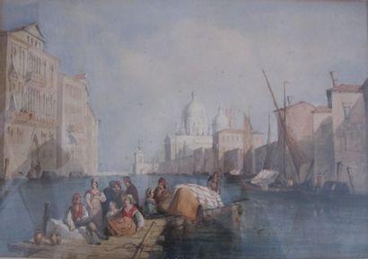 Ecole italienne du XIXe siècle  Canal animé...