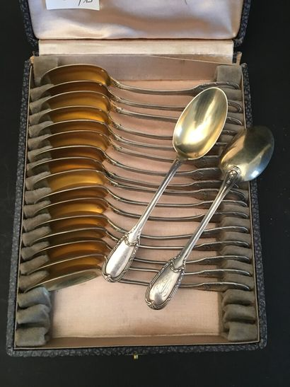 18 cuillères à café en argent, le cuilléron...