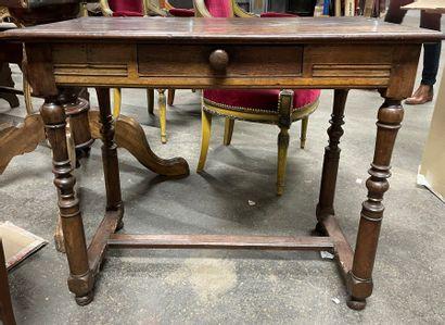 -Table à écrire en bois naturel ouvrant...