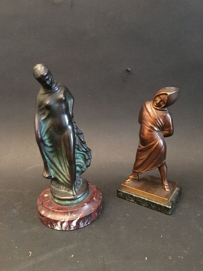 Sculpture en bronze doré