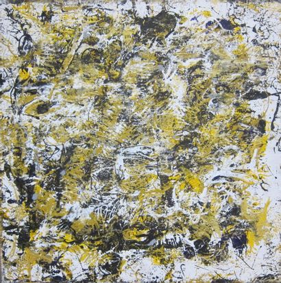 Patrick PAGES  Composition abstraite  Huile...