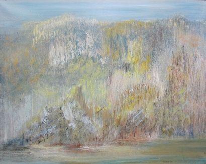 Michel BIOT (né en 1936)  Paysage romantique...