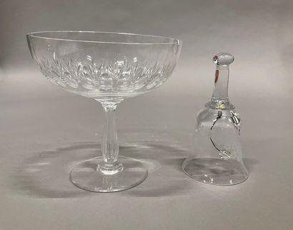 -Cloche de service en cristal taillé (14...