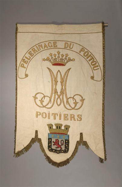 Bannière de pèlerinage marial de la ville...