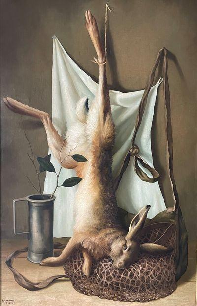Philippe BONAMY (1926)  Nature morte au lièvre...