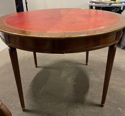 Table de salle à manger ronde en acajou à...