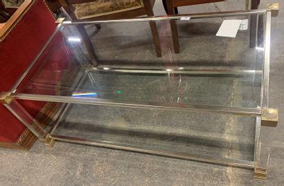 Table basse à deux plateaux de verre, les...