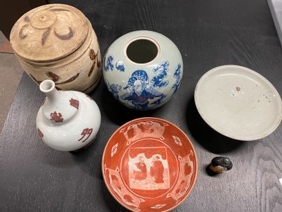 Lot de vases, coupes Chine