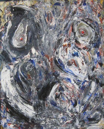 -Ecole Contemporaine  Composition abstraite...
