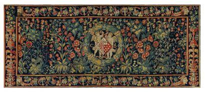 Importante tapisserie des Flandres. Fond...